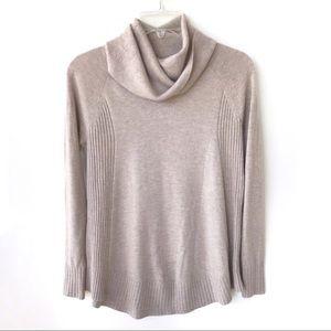 Loft Beige Turtleneck Relaxed Sweater XS